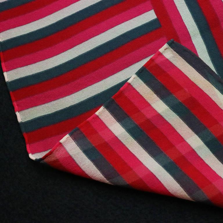 af7792e45148 YVES SAINT LAURENT・ヴィンテージスカーフ「ピンクストライプ」イヴサンローランYSL