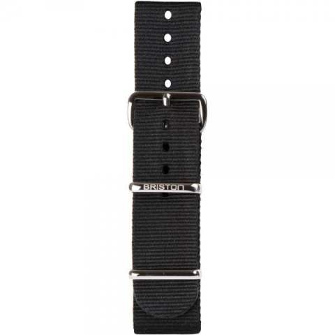 STEEL BUCKLE 280mm NATO STRAP/BLACK 【BRISTON】