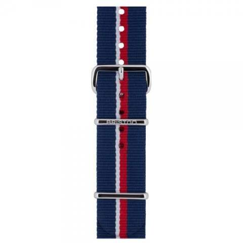 STEEL BUCKLE 280mm NATO STRAP/STRIPE D 【BRISTON】